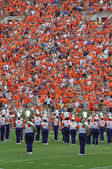 Clemson Tiger Band performing before football game — Stock Photo