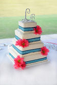 Colorful Wedding Cake — Stock Photo