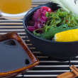 Stock Photo: Sushi and salad