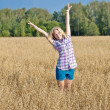 Girl in field — Stock Photo #17871991