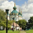 Path to Cathedral Church in Kiev — Stock Photo