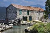 Beautiful stone house near the sea — Stock Photo