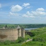 West Ukraine, Khotyn, Medieval fortress — Stock Photo
