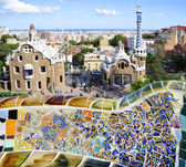 Ceramic mosaic in Park guell — Stockfoto
