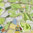 Stock Photo: Ceramic mosaic in Park guell