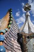 Beautiful Gaudi buildings in Barcelona — Stock Photo