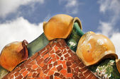 Roof of a beautiful Gaudi buildings in Barcelona — Stock Photo