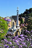 Beautiful view at Gaudi park — Stock Photo