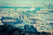 Piękny widok na miasto z wysokości — Zdjęcie stockowe