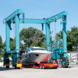 Italian shipyard - Stock Photo