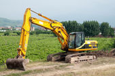 Hydraulic crawler excavator — Stock Photo