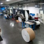 Printing machine: digital web press — Stock Photo