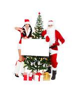 Papai Noel e santa giirl — Fotografia Stock