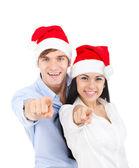 Christmas couple — Stockfoto