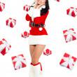 Santa girl creative design — Stock Photo