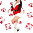 Santa girl creative design — Stock Photo