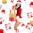 Stock Photo: Santa girl creative design