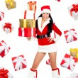 Santa girl creative design — Stock Photo #16322955