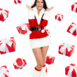 Santa girl creative design — 图库照片