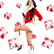 Santa girl creative design — Foto de Stock