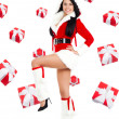 Santa girl creative design — Foto Stock