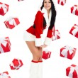 Santa girl creative design — Stock Photo #16323023