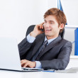 Businessman working in the office — Stock Photo #22563059