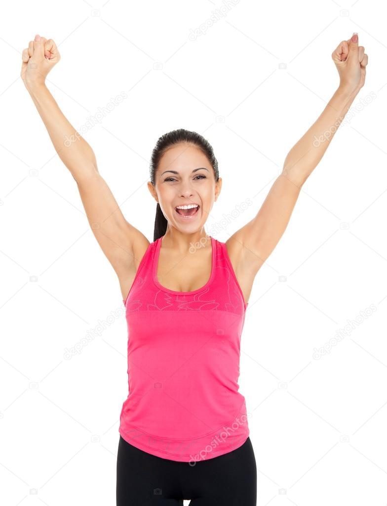 фото девушек с поднятыми руками-гу3