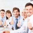 Business people group team thumbs up gesture  — Stock Photo