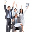 Successful excited Business people group team — Stock Photo #31727741