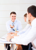 Working business people team — Stock Photo