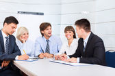 Business people, discussion on meeting — Stock Photo