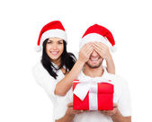 Christmas holiday couple — Stock Photo