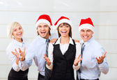 Businesspeople office party — Stock Photo