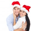 Christmas holiday happy couple — Stock Photo #31732415