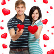 Love couple valentine day heart shape — Stock Photo