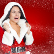 Christmas santa girl — Stock Photo