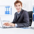 Businessman working laptop — Stock Photo