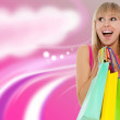bella donna con colorate shopping bag — Foto Stock #31734967