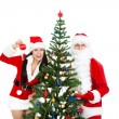 Santa Claus and christmas girl — Stock fotografie