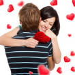 Love valentine day couple — Stock Photo
