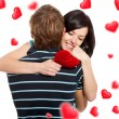 Love valentine day couple — Стоковое фото