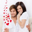 Love valentine day couple valentine's greeting card — Stock Photo
