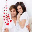 Love valentine day couple valentine's greeting card — Stock Photo #31739239