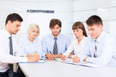 Smilling business people, team — Stock Photo