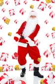 Santa claus tanzen — Stockfoto