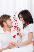 Love valentine day couple valentine's greeting card — Stock Photo