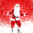 Happy Santa Claus full length portrait hands wide open — Foto Stock