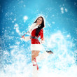 Christmas new year santa girl — Stock Photo #34877127