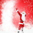 Santa Claus Christmas sale background with blank empty copy space — Stock Photo